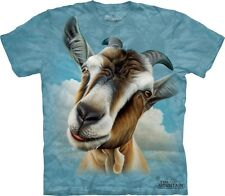 Big Face Goat T-Shirt by The Mountain. Giant Head Farm Animal Sizes S-5XL NEW
