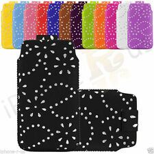 Leather Diamond Glitter Pull Tab Case Cover Skin For Micromax A61 Bolt