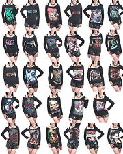 Hot Sales Music Bands Metal Rock Rap DIY Raw Edge Off Shoulder Tank Top Shirt