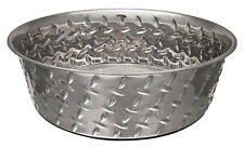 Diamond Plate Stainless Steel Dog Pet Bowls Dishes Loving Pets Ruff n Tuff