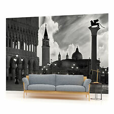 Venice Piazza San Marco Black and White Photo Wallpaper Wall Mural (CN-337VE)