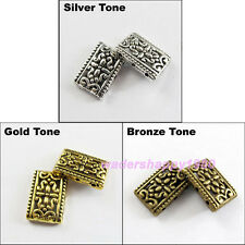 12 New Antiqued Silver Gold Bronze 3-3 Holes Spacer Beads Connectors 12x17.5mm