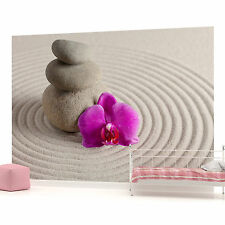 Zen Spa Stones and Orchid Photo Wallpaper Wall Mural (CN-146P)
