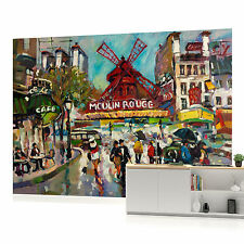Moulin Rouge Art Painting Photo Wallpaper Wall Mural (CN-168P)