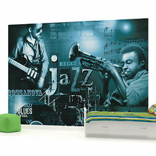 Blue Jazz Music Photo Wallpaper Wall Mural (CN-252P)