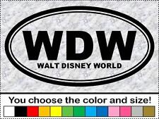 WDW Walt Disney World Vinyl Sticker Decal Oval USA RV Travel Vacation Bumper