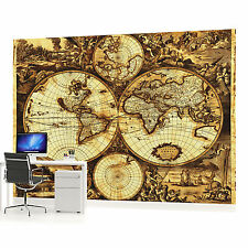 Vintage World Map Photo Wallpaper Wall Mural (CN-571P)