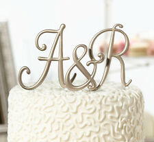 Lillian Rose Gold Monogram Wedding Anniversary Birthday Cake Topper Caketop