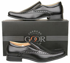 Mens New Black Slip On Leather Lined Formal Fashion Shoes Size 6 7 8 9 10 11 12