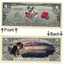 Wedding Just Married $1,000,000 Novelty Bill Notes 1 5 25 50 100 500 or 1000