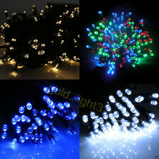 100 LED 12M Solar Powered Fairy String Lights Garden Party Decor XMAS Outdoor