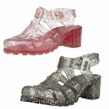 Girls Spot On Glitter Jelly Shoes