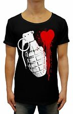 trendy LOVE HURTS DEEP V-NECK SCOOP HOOD Singlet GRENADE heart Tank PUNK MISFITS