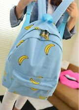 New Arrival Hot Sale Popsicle Ice Cream Bananas Printed Canvas Backpacks Bookbag