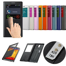 Luxury NFC IC Chip Wake Up Sleep S VIEW Smart PU Leather Case Cover For Samsung