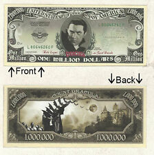 Count Dracula Halloween Monster Dollars Novelty Notes1 5 25 50 100 500 or 1000