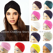 1-12 Women Unisex Indian Stretchable Turban Hat Hair Head Wrap Cap Headwrap Lot