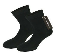 Women's Socks In Black With Lots of Cotton 20pc Pack Medium Strong Band Size 2-9