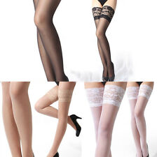 New Women Sheer Lace Top Thigh High Silk Stockings Sexy Nylons Hosiery