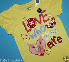 "baby Gap NWT Girls 18 24 Mo 3T Nick Jr. Olivia Top - ""Love Who You Are"" w/ Heart"