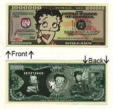 Betty Boop One Million Dollars Bill Novelty Notes 1 5 25 50 100 500 or 1000