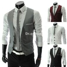 Fashion Design Men's Slim Fit Blazer Casual Waistcoat Coat Vest Jackets IN XS~XL