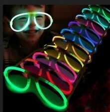 10pc Assort Color LED Light Up Eyeglasses Glow Stick Costume Toys For Party Rave
