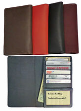New 100% Leather Top Stub Checkbook Cover For Top Stub Checks, Credit Cards & ID