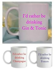 I'D RATHER BE DRINKING MUG/COASTER, MOTHERS/FATHERS DAY, BIRTHDAY,CHRISTMAS GIFT