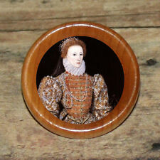 Portrait Red Gown Tudor QUEEN ELIZABETH I Art Tie Tack or Ring or Brooch pin