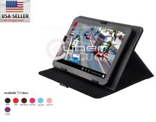 10 10.1 10.2 Inch Colors Universal Leather Folio Case Stand Cover for Tablet PC