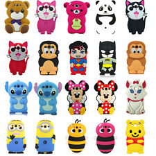 3D Cute Cartoon Patterned Silicone Shockproof Soft Case Cover for Apple Samsung