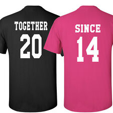 COUPLE t-shirts Together Since Love shirt Valentine's Day gift tee crewneck H