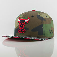 New Era Camo Hook Chicago Bulls Camo/Grey/Red 59FIFTY Fitted Cap