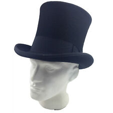 SCALA Mad Hatter Top Hat 100% WOOL Magician Tuxedo Cap Fedora Trilby New