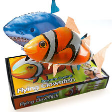 Remote Radio Control RC Flying Shark Fish Inflatable Air Swimmer Blimp Balloon