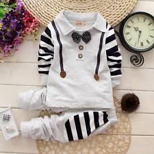 "2pcs kids baby boys tops+pants Set Outfits&set boys autumn clothing ""gentleman"""