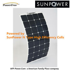 Semi-Flexible Bendable 30w 50w 60w 90w100w Watt Solar Panel 12v Battery SunPower