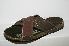 DOCKERS Sandals Shoes Men's Summer Slippers Brown Leather