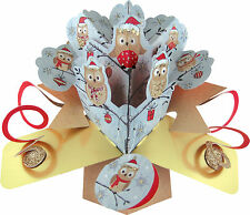 CHRISTMAS PETITE POP UP CARDS LUXURY 3D GIFT CARD CENTER PIECE TREE DECORATION
