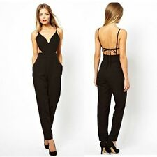 2014 Women Sexy backless Clubwear Jumpsuits Rompers Bodysuit Dress Outfits black