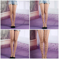 Lovely Pantyhose Stocking Cute Tatoo Tight Sheer Summer Sexy Lady Leggings