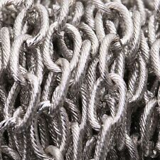 1m or 10m Silver Color Stripe Cable Open Link Iron Metal Chain Findings 15x10mm