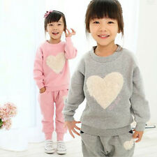 Lovely Autumn Kid Girl Sets Baby Long Sleeve Top+Trousers Pants Children Outfits