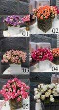 New 1 Bouquet Artificial Silk Rose Flower ~ Home Party Wedding Garden Decoration