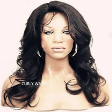 Soft 100% 8-24 Malaysian Lace Front wigs human Remy Hair  wave curly 4 colors