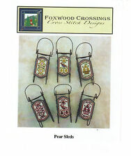 Foxwood Crossings - Sleds - Christmas Ornament - You choose - Free Ship!