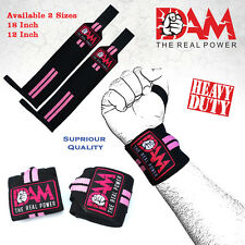 "DAM COLOUR 12"" WRIST SUPPORT STRAPS WRAPS GYM GLOVES WEIGHT LIFTING"