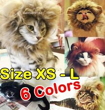 Pet Costume Lion Mane Wig for Cat Halloween Clothes Fancy Dress up with Ears
