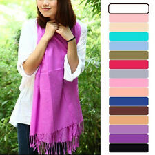 Pashmina Cashmere Silk Solid Shawl Wrap Women's Girls Ladies Scarf Accessories